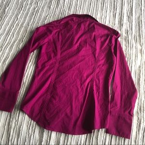 Express Tops - Express - Vibrant Violet Button Up
